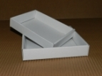 Emballage carton BARQUETTE blanche - 275 x 180 x 30