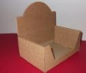 Emballage carton BOITE PRESENTOIR carton cannelé