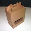 Emballage carton valisette à fenêtre